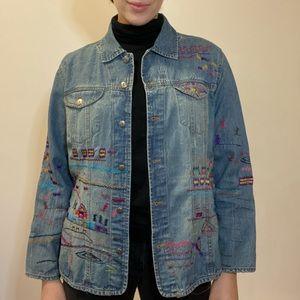 Vintage Embroidered Jean Jacket